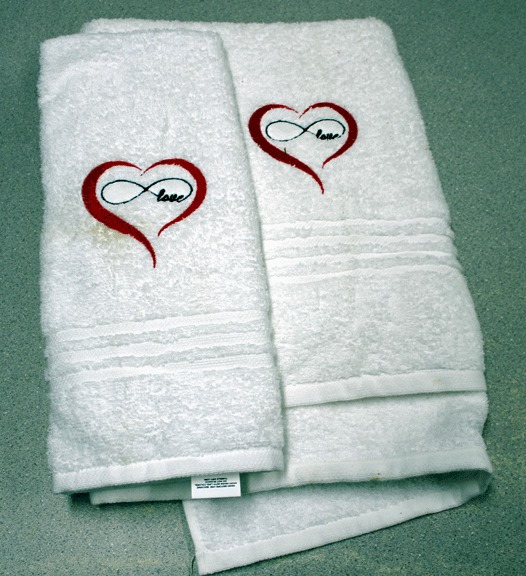 Love towels white